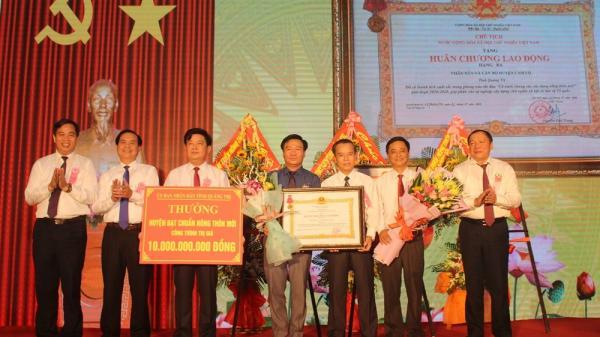 Cam Lộ là huyện đạt chuẩn Nông thôn mớiđầu tiên của tỉnh Quảng Trị