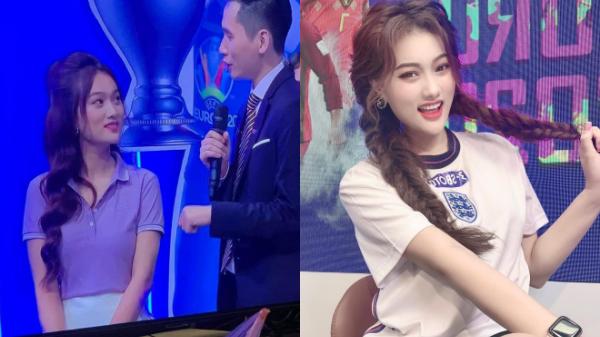 Cô gái xinh đẹp xuất hiện trong trận đấu chung kết Euro 2020: Mê Sông Lam Nghệ An từ bé, là mẫu ảnh có tiếng