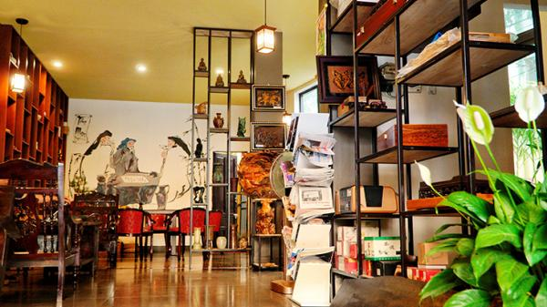 Có một nơi Tản mạn trà quán, ngắm bình minh trên sông Nhật Lệ