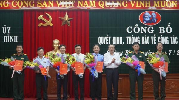 Thường trực Tỉnh ủy Quảng Bình: Trao quyết định cho 8 cán bộ chủ chốt