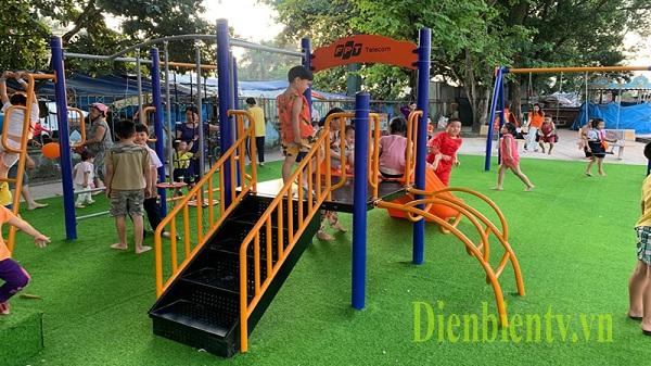 Trẻ em trên địa bàn tỉnh Điện Biên có khu vui chơi miễn phí