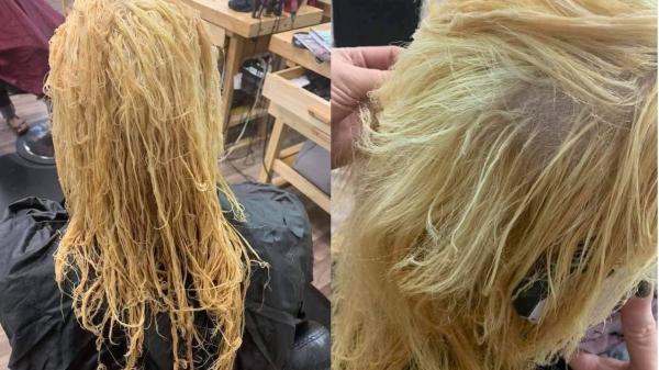 """Tẩy tóc đón Tết: Nhận về mái tóc """"nát"""", năm mới thế là toang!"""