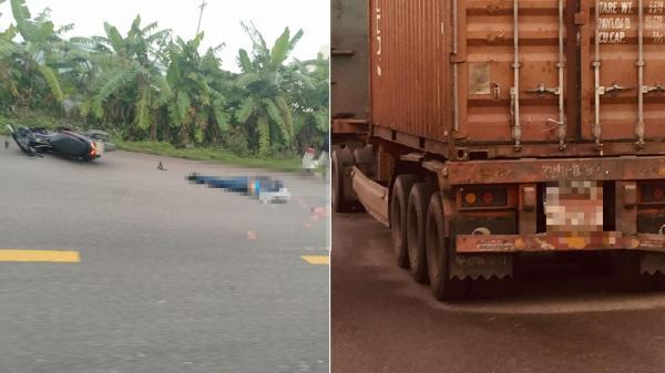 VỪA XONG: V.a chạ.m với xe container, người đàn ông t.ử vo.ng th.ương t.âm