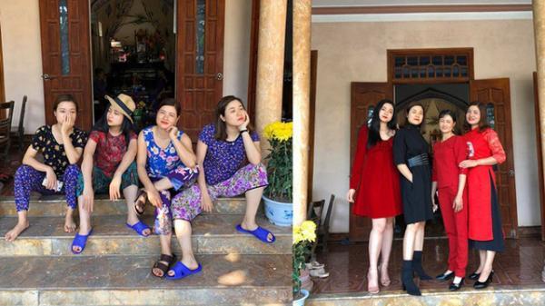 """Sự thật đằng sau bức ảnh 4 chị em mặc áo hoa của mẹ đón Tết, 2 cô trẻ nhất bị """"rao bán"""" vì quá ế!"""