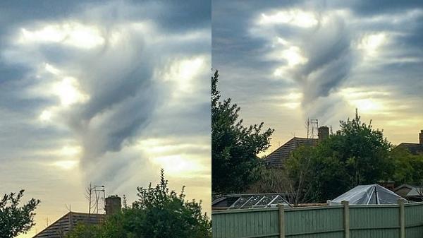 Món quà năm mới của tự nhiên: Xuất hiện đám mây hình vị thần
