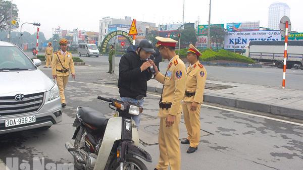Hà Nam: Ghi nhận sau hơn 1 tháng xử lý vi phạm nồng độ cồn theo Nghị định 100 ở thành phố Phủ Lý
