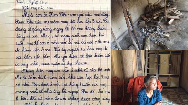 Điều chưa biết về hoàn cảnh đáng thương của nữ sinh viết thư gửi mẹ đang đi làm ở Hà Nam gây sốt