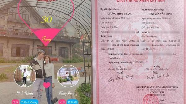 Cặp đôi 22 tuổi quen nhau 30 ngày đã đăng ký kết hôn, lý do khiến ai cũng bất ngờ