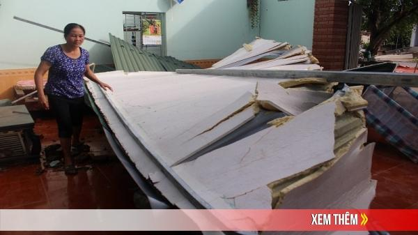 Con Cuông (Nghệ An): Lốc xoáy làm tốc mái 129 nhà dân
