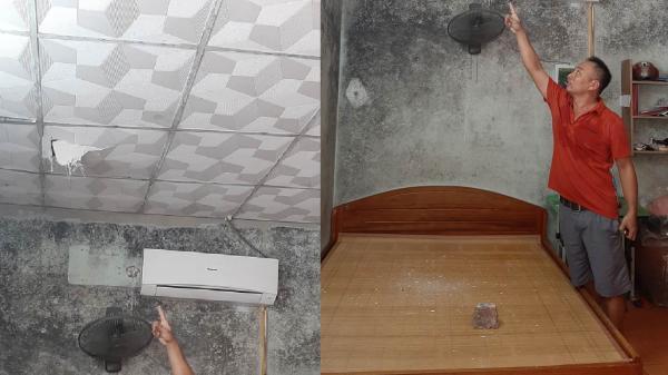 Hà Tĩnh: Gạch từ công trình 19 tầng rơi xuyên thủng nhà dân
