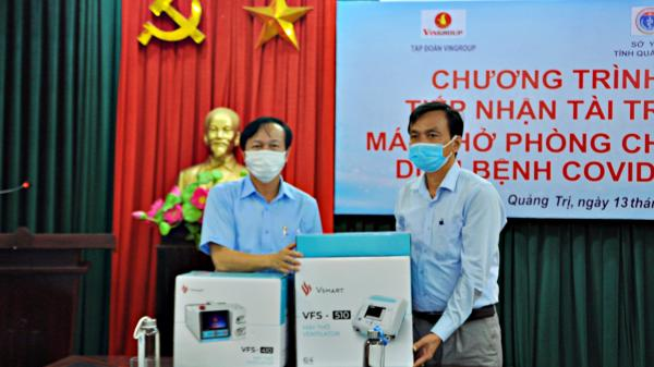 Tập đoàn Vingroup tặng 15 máy trợ thở cho ngành Y tế Quảng Trị