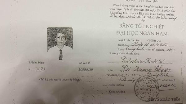 Quảng Trị: Phó Chủ tịch UBND huyện Hướng Hóa sử dụng văn bằng không đúng quy định