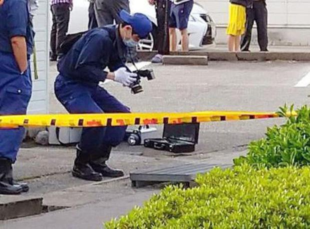 Thi thể được phát hiện tại cống thoát nước ở Akada ngày 5-5. Ảnh: tokyo-np